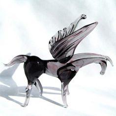 Pegasus Russian artist hand-made glass figurine