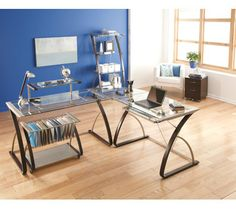 Realspace 174 Zentra Main Desk Silver Clear Item 572293