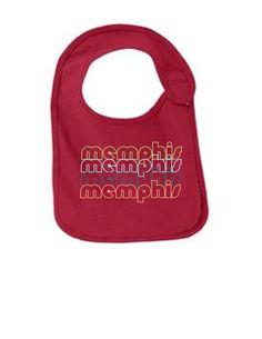 Memphis Tennessee Retro Funny Infant Jersey Bib