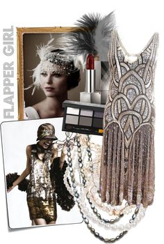 """Flapper Girls"" by annakivi ❤ liked on Polyvore"