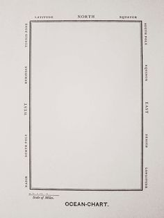 "Lewis Carroll, 1832–1898. ""Ocean Chart."" Printed map, 13 × 8.2 cm"