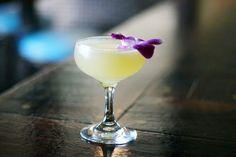 Luau Daiquiri: White Rum, Lime Juice, Orange Juice, Vanilla Syrup (recipe).