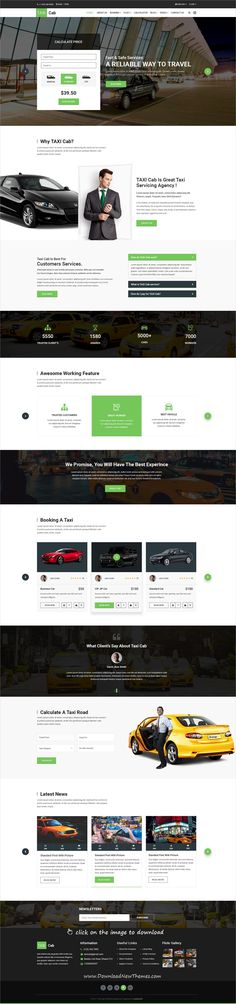 Buy TAXI Cab PSD Template by themelocator on ThemeForest. TAXI Cab is a premium quality Taxi Services PSD Template designed in a minimalist style. Diy Design, Modern Design, Design Ideas, Taxi, Site Inspiration, Site Vitrine, Grid System, Drupal, Web Layout