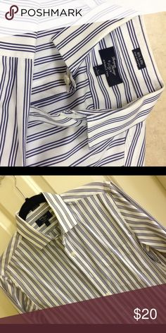 J.Crew dress shirt Almost brand new. Worn once. Size Small 14-14.5 .great for work and a night out. Wrinkle free and great quality shirt.  ( 80's 2 ply ) J. Crew Shirts Dress Shirts
