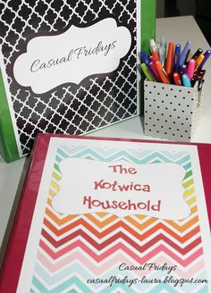Casual Fridays: Household Binder