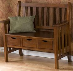 OAK  BENCH ARTS CRAFTS CRAFTSMAN MISSION STICKLEY STYLE ENTRY STORAGE SEAT  NEW  - in front of radiator