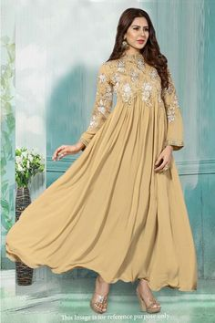Bollywood Inspired - Ethnic Wear Cream Anarkali Suit - 71210