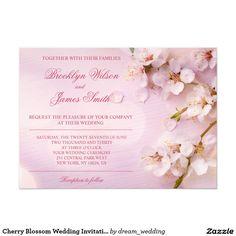 Cherry Blossom Wedding Invitations Pink Floral