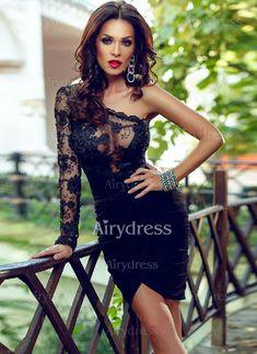 Dress -  23.73 - Solid Pencil Oblique Neckline Bodycon Dress (1955121741)  Sexy Dresses, 1a635a746a3