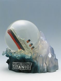 Close-Up of a Snow Globe Depicting Sinking of Titanic- SNOW GLOBESS!