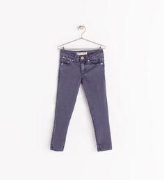 girls' skinny jeans in dusty plum