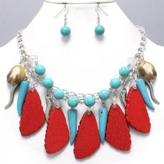 Women should have elegance; add it to your personality with #Chunky Southwestern Style #Necklace & #Earring Set. Buy it now in just US $17.99