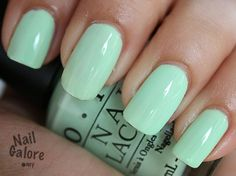Lovely mint green!  Perfect for Spring!  OPI's Gargantuan Green Grapes. Nail polish.