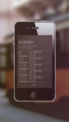 '11Jedenastka' - public transport schedule app by Adam Jankowski, via Behance