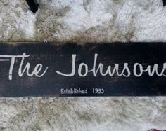 Personalized Family Name Sign Established Sign Personalized Plaque by paolabrownshop. Explore more products on http://paolabrownshop.etsy.com