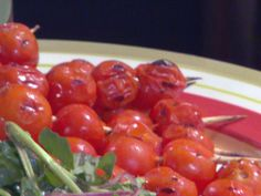 Marinated Grilled Cherry Tomatoes Skewers Recipe : Bobby Flay : Food Network - FoodNetwork.com