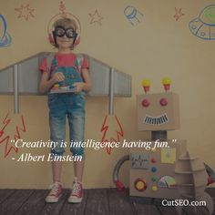 """Creativity is intelligence having fun.""  - Albert Einstein   #einstein #creativity #fun #quote"
