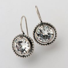Designer Earrings Hoop Facet White CZ Jewelry Vintage 100% Solid Fashion for Women Shablool Didae