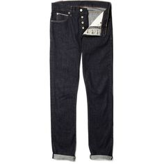 J.Crew 484 Slim-Fit Selvedge Jeans ($150) via Polyvore