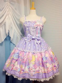 Cotton Candy Shop jsk in lavender