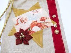 Pretty Embellishments Fabric Gift Bag | AllFreeChristmasCrafts.com