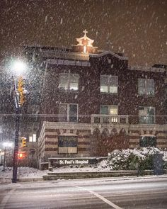 Holy Snow . Vancouver is crushing snowfall records this winter and I'm praying for good old rain. Captured outside of St. Paul's Hospital on Burrard Street in Vancouver British Columbia Canada February 3 2017