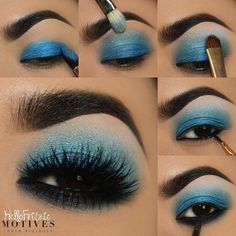 Motives by Loren Ridinger is a trusted name in makeup, skin care, and body care. Shop securely online for your favorite cosmetics and beauty products. Eye Makeup Art, Blue Eye Makeup, Love Makeup, Diy Makeup, Makeup Inspo, Eyeshadow Makeup, Makeup Inspiration, Makeup Tips, Blue Eyeshadow