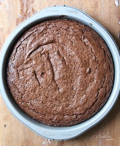 Chocolate Almond Butter Brownies are the answer to your cravings for a low-carb, cakey brownie! This one's got a great, chewy outside and cakey middle. You can even make it dairy-free by using coconut oil instead of butter! Gluten-free and keto. A THM S.