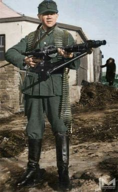 """""""Wehrmacht soldier with MG 34"""" -The Wehrmacht -"""