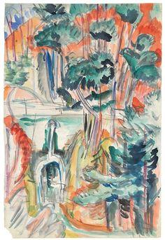 Ernst Ludwig Kirchner, Landschaft im Taunus, 1916