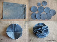 DIY: Fabric Flower | //rainydazeee.com//