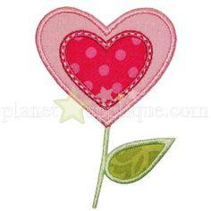 Jan'15 Plant Applique - Heart Flower Applique