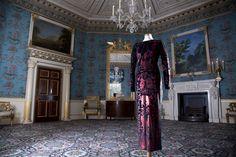 Vivienne Westwood stretch velvet with red foil dress, 1990-91. -Wmag