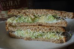A recipe for avocado and sprout sandwiches using the Oroweat Whole Grain Whole Wheat Bread.  #sponsored