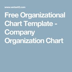 Organizational Chart for Small Business