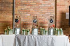 Fruit-infused water featuring strawberries, lime, watermelon and cucumber adds an elegant touch to your refreshments. Offered at an event for Cannondale Bicycles catered, coordinated and decorated by LeCroissant Catering and Events at HUB801 in Ogden, UT. #lecroissantcateringandevents #eventideas #utahvenues