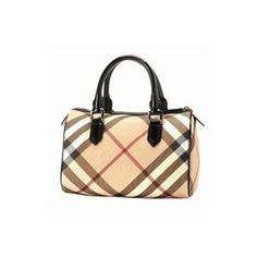 Burberry Nova Check Boston Handbag - Black