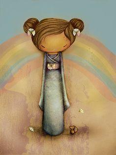 kokeshi rainbow, by Karin Taylor.