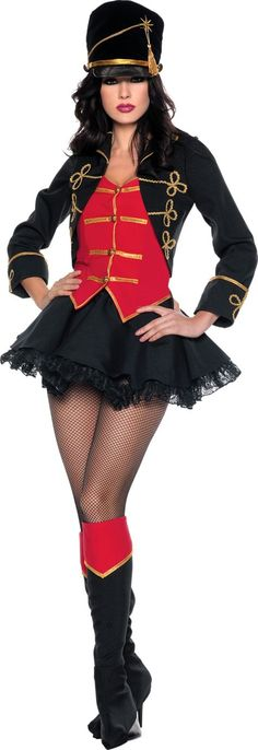 March On Sexy Toy Soldier Costume for Women - Party City