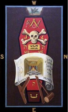 Master Mason 3rd degree Masonic Symbolic Plate art chart trestle tracing board