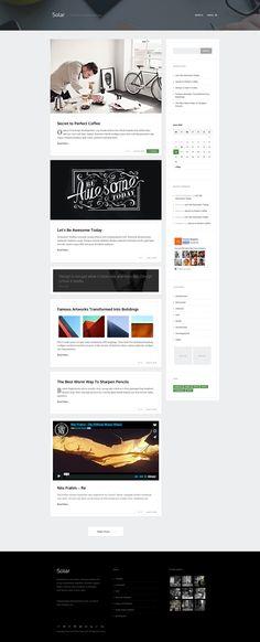 Solar - Responsive Blog Theme by Themes Kingdom on @creativemarket