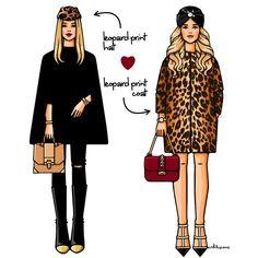 Леопардовый принт is ❤️ Чтобы бы вы предпочли: леопардовое пальто как у @anele55  или леопардовый акцент как у @ushkibubu?:) #GirlsinBloom #illustration #fashionillustration #leopard #leo #print #art_fashion #daily_art #lookoftheday #itgirl #осень #иллюстрация #мастхев #москва