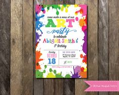 Printable Painting Art Party Birthday Invitation