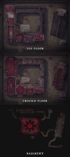 Vampire House, Vampire Castle, Fantasy Castle, Fantasy Map, Fantasy Places, Vampire Games, Imaginary Maps, Building Map, Rpg Map