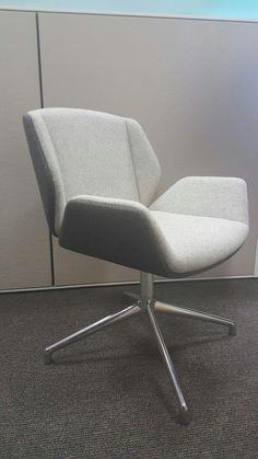 boss design kruze lounge chair low back wooden finish smart