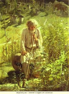 """Bee-Keeper"" - Ivan Kramskoy, 1872."