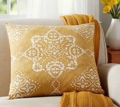 Linden Printed Medallion Pillow Cover | Pottery Barn 24inch $35