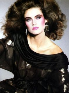 Carol Alt 80s Makeup 80s outfit - when I think of  the fashion in the 80s I can't even believe it happened sometimes.