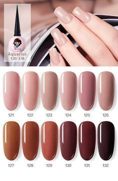 Ekbas 12 Color Series Represented by 12 Zodiacs – BluePlace Nail - NailiDeasTrends - Nail Colors For Pale Skin, Sns Nails Colors, Nail Polish Colors, Winter Nail Colors, Taupe Nails, Neutral Nails, Gel Nails At Home, Nail Blog, Nagel Gel