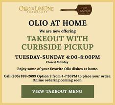 Olio e Limone Ristorante and Olio Crudo Bar - Santa Barbara, California   Temp Menu Pizza Bar Menu, Pizzeria Menu, Restaurant, Dinner Menu, Santa Barbara, California, Diner Restaurant, Restaurants, Dining